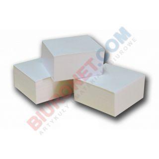 Kostka papierowa - biała, klejona