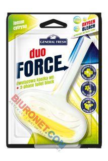 Kostka toaletowa Duo Force General Fresh 40g, dwufazowa zawieszka do WC