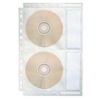 Koszulka krystaliczne Esselte Dataline, na 4 płyty CD, z miejscem na opis