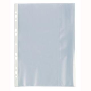 Koszulki groszkowe Biurfol, 200 mikronów, z klapką boczną, 25 sztuk w folii