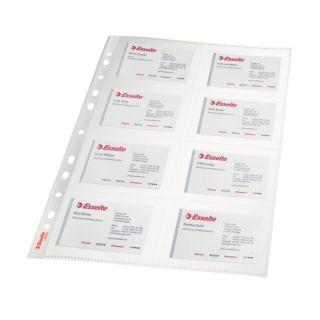 Koszulki na wizytówki Esselte A4/105 mikronów, na 16 wizytówek