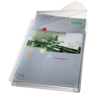 Koszulki poszerzane Leitz Premium A4/170 mikronów, na katalogi, z klapką