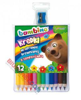 Kredki ołówkowe Bambino, grube, + temperówka