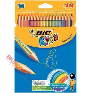 Kredki ołówkowe BIC Tropicolor, w oprawie z żywicy syntetycznej