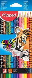 Kredki ołówkowe Maped Color'Peps Animals, trójkątne