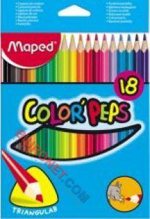 Kredki ołówkowe Maped Color'Peps Jumbo, grube, trójkątne