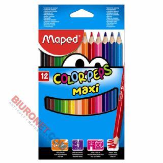 Kredki ołówkowe Maped Color'Peps Maxi, grube, trójkątne