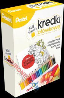 Kredki ołówkowe Pentel Arts CB8 z kolorowanką relaksacyjną