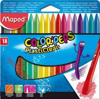 Kredki plastikowe Maped Color'Peps PlastiClean, nie brudzące, dwie końcówki