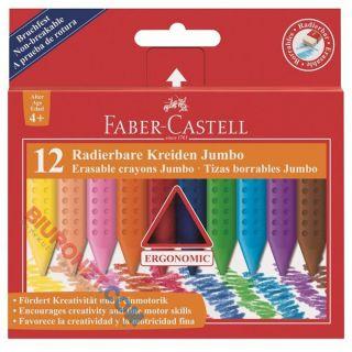 Kredki świecowe Faber Castel Jumbo, grube trójkątne, 12 kolorów