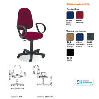 Krzesło biurowe Tema GTP. Nowy Styl.