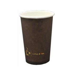 Kubki papierowe, do napojów gorących ''Coffee 4 You'' [300ml x 50 sztuk]