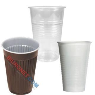 Kubki plastikowe, do napojów gorących i zimnych [200ml x 100 sztuk]