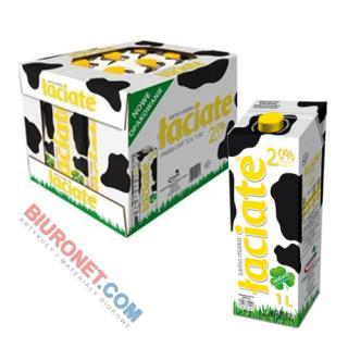 Łaciate, mleko w kartonie 1L, zgrzewka 12 sztuk 2%