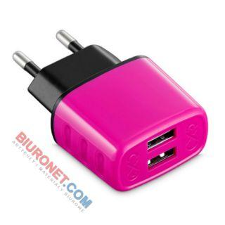 Ładowarka sieciowa eXc Cute, uniwersalna, wejście USB x 2