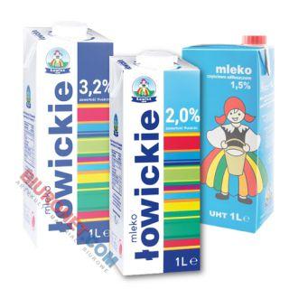 Łowickie, mleko w kartonie 1L