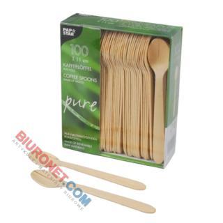 Łyżeczki drewniane PapStar Pure, opakowanie 100 sztuk