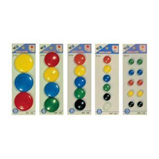 Magnesy okrągłe do tablic, kolorowe punkty magnetyczne