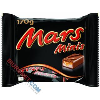 Mars Minis, batoniki nugatowe, oblane karmelem i czekoladą