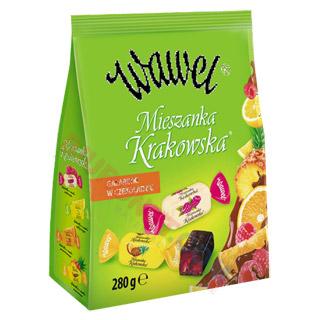 Mieszanka Krakowska Wawel, galaretki w czekoladzie