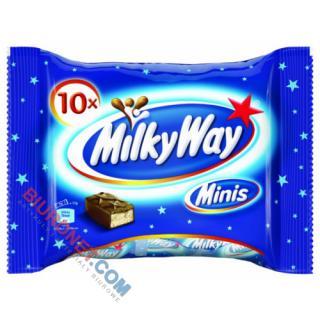 Milky Way Minis, batoniki z mlecznym nadzienie w czekoladzie