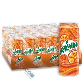Mirinda, napój gazowany o smaku pomarańczowym, w puszce 0,33L x 24 sztuki