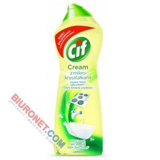 Mleczko CIF Cream Lemon, do czyszczenia, z mikrokryształkami
