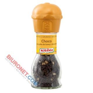 Młynek Choco Kotanyi, czekoladowa posypka do kawy