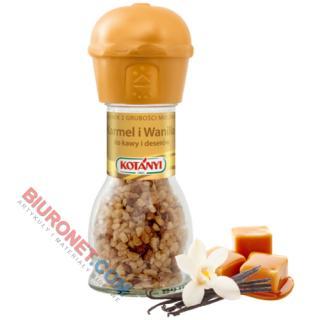 Młynek Kotanyi, karmel i wanilia, posypka do kawy