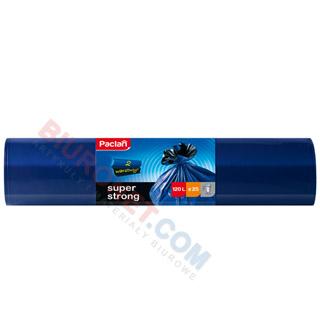 Mocne worki Paclan Super Strong, dwuwarstwowe, niebieskie