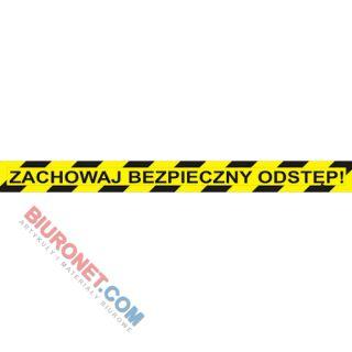 Naklejka ostrzegawcza z napisem Zachowaj Bezpieczny Odstęp 10 x 103 cm, podłogowa 1 sztuka