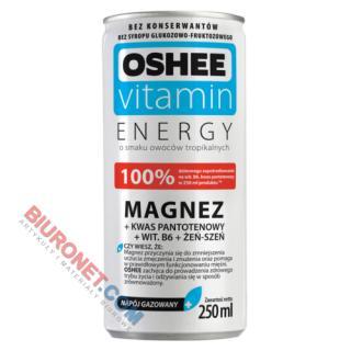Napój energetyczny OSHEE Vitamin Energy, magnez + B6, smak tropikalny