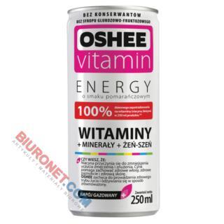 Napój energetyczny OSHEE Vitamin Energy, witaminy + minerały, smak pomarańczowy