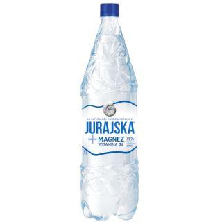 Naturalna woda mineralna Jurajska + Magnez i witamina B6 1,5L, funkcjonalna, zgrzewka 6 sztuk lekko gazowana