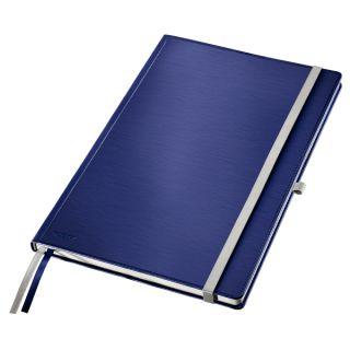 Notatnik Leitz Style, 80 kartek A4, w kratkę, twarda oprawa niebieski