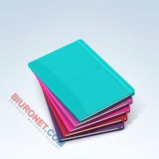 Notes Oxford Signature A5, 80 kartek w linie, elastyczna oprawa plastikowa