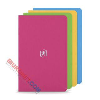 Notesik kieszonkowy Oxford Pocket A6, 24 kartki w linie, miękka oprawa, 4 sztuki
