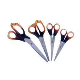 Nożyczki biurowe z bursztynowa rączką