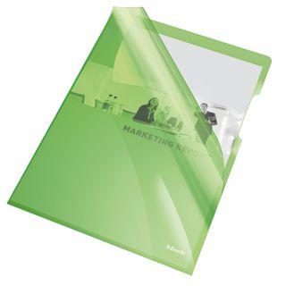Ofertówki kolorowe Esselte A4/150 mikronów, krystaliczne, 25 sztuk w folii