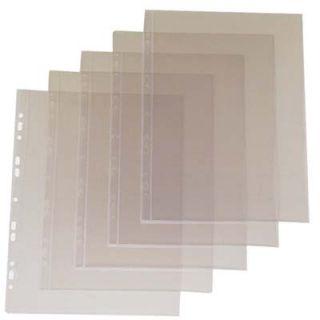 Ofertówki wpinane Biurfol A4, krystaliczne, obwoluty do segregatora, 25 sztuk