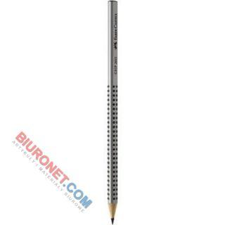 Ołówek Faber-Castell Grip 2001, trójkątny, drewniany, z gumką twardość 2B