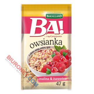 Owsianka błyskawiczna BA! Bakalland, płatki śniadaniowe 47g