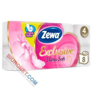 Papier toaletowy Zewa Exclusive Ultra Soft Aqua Tube, standardowy, zdobiony wzorkiem [BI 4W CEL]