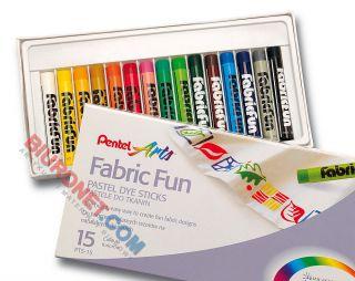 Pastele do tkanin Pentel Arts Fabric Fun PTS, kredki farbujące materiał