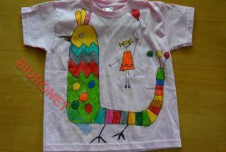 Pastele do tkanin Pentel PTS, zestaw z koszulką i markerem