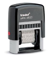 Pieczątka Trodat 4822, stempel z 12 hasłami