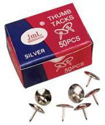 Pinezki metalowe srebrne opk. 50 szt