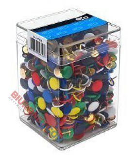 Pinezki płaskie w plastikowym pudełku, 750 sztuk, Victory