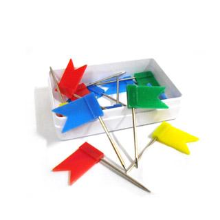 Pinezki tablicowe - flagi. E&D