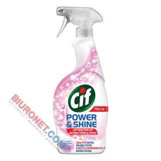 Płyn Cif Power&Shine Antybakteryjny, spray do czyszczenia łazienki, zabija bakterie i wirusy grypy